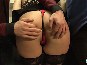 LaCochonne - French Julia Gomez in red-hot buttfuck threesome