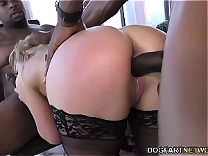 Cherie DeVille gets gangbanged by yam-sized black knobs