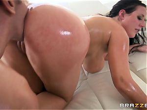 sizzling bum Angela milky getting smashed