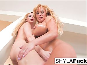 Nikki Benz and Shyla Stylez together for a chick on nymph