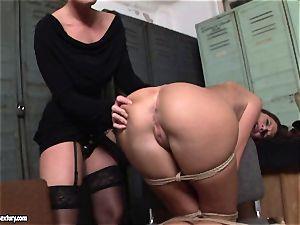 Kathia Nobili lets a torrid gal blow her cord on