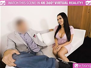 VR porno - Thanksgiving Dinner becomes a mischievous threesome
