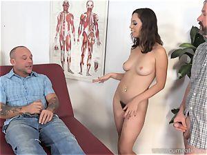 Jade Nile Has Her husband fellate boner and witness Her