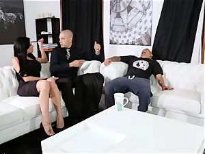 submissive pulverizes his manager Jaclyn Taylor while her husband sleeps