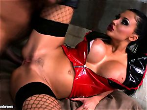 Lusty stunning Aletta Ocean gets anally fucked she couldn't stop wailing