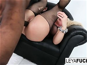 sizzling humungous tittie light-haired Leya gets her bootie pulverized