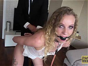PASCALSSUBSLUTS - Angel Emily sucked with bondage & discipline jizz-shotgun