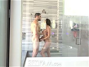 SpyFam Step step-brother spies on step sister Ashley Adams