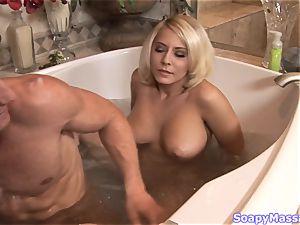 buxomy blondie Madison Ivy railing a rock-hard trunk