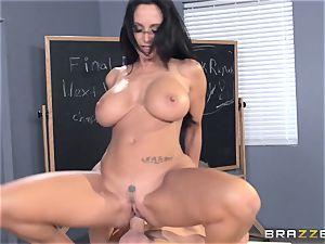 buxom teacher Ava Addams is pummeled by her schoolgirl