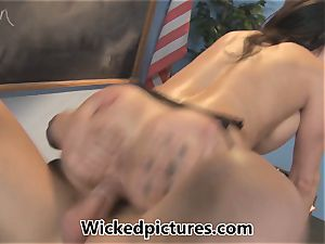 sleepy college girl is plowed by instructor Kendra lust