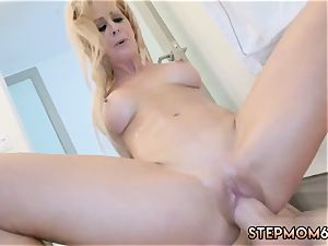 cougars gangbang and romp female Cherie Deville hates that her new step playfellow has long