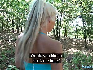 Public Agent sizzling blond wife Barbie Sins drills Stranger